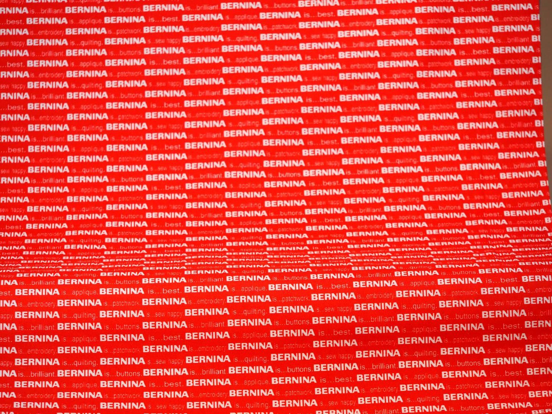 Bernina Red/White pris pr meter