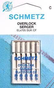 Overlock maskin nåler ELX705 80-90 SUK