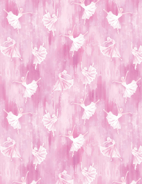 Ballerina Silhouette Pink, pris pr 10 cm