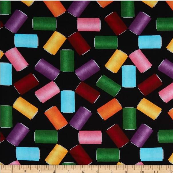 Colorful Spools Black pris pr 10cm