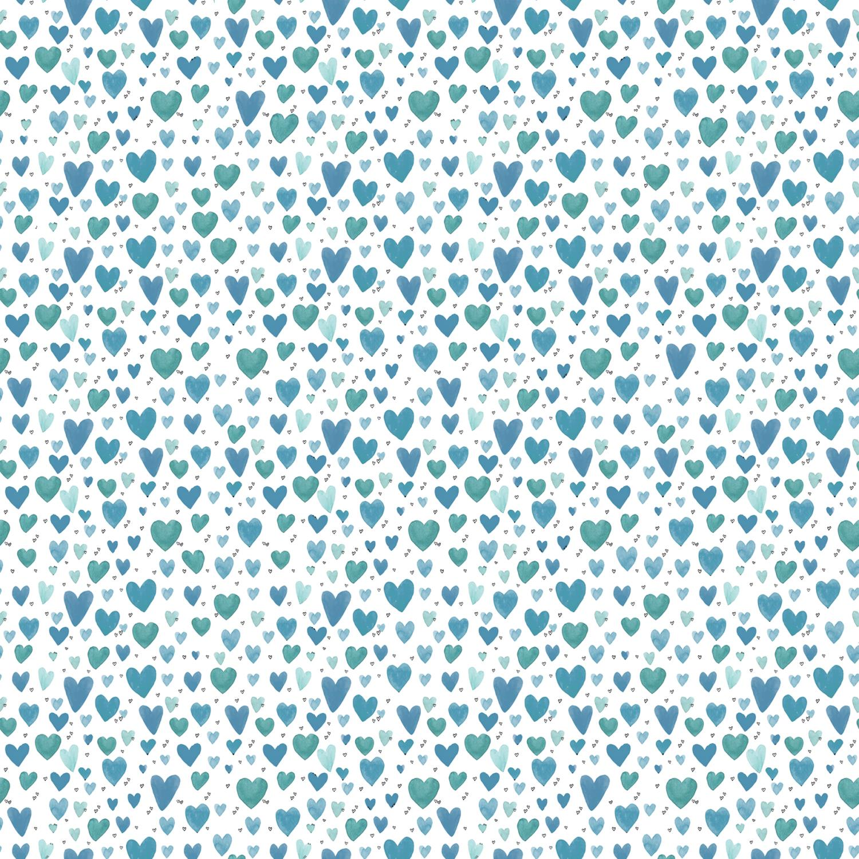Playful Hearts Teal pris pr 10cm