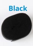 Foldover elastic black
