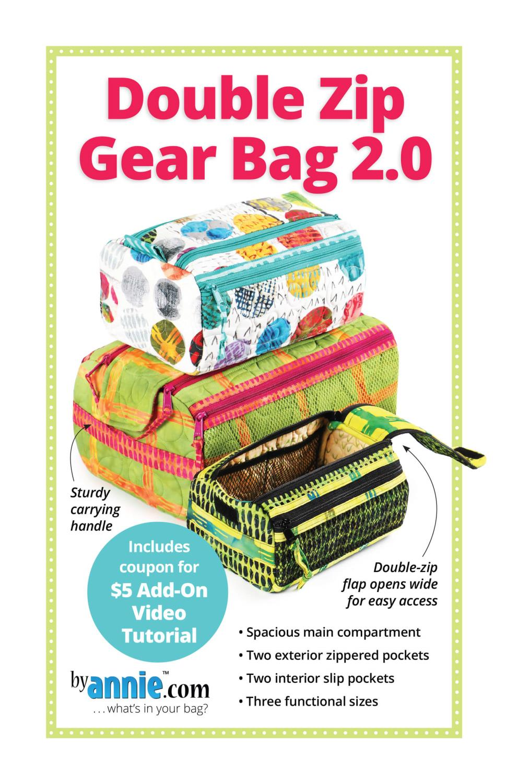 Mønster Double zip gear bag