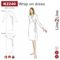 Slå om kjole med legg - fast stoff