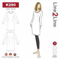 T-shirt kjole - strekk