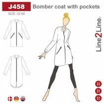 Bomber frakke med lommer