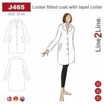 Løs frakke med stor reverskrave
