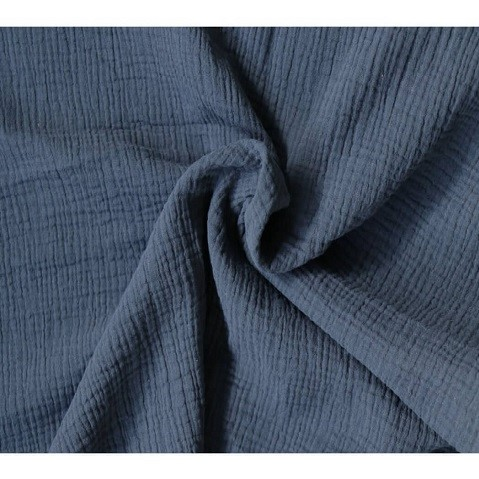 Double gauze blå, pris pr 10cm