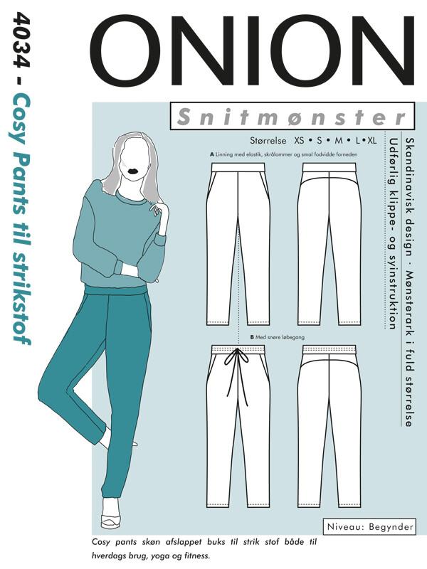 Cosy pants til strikkestof ONION