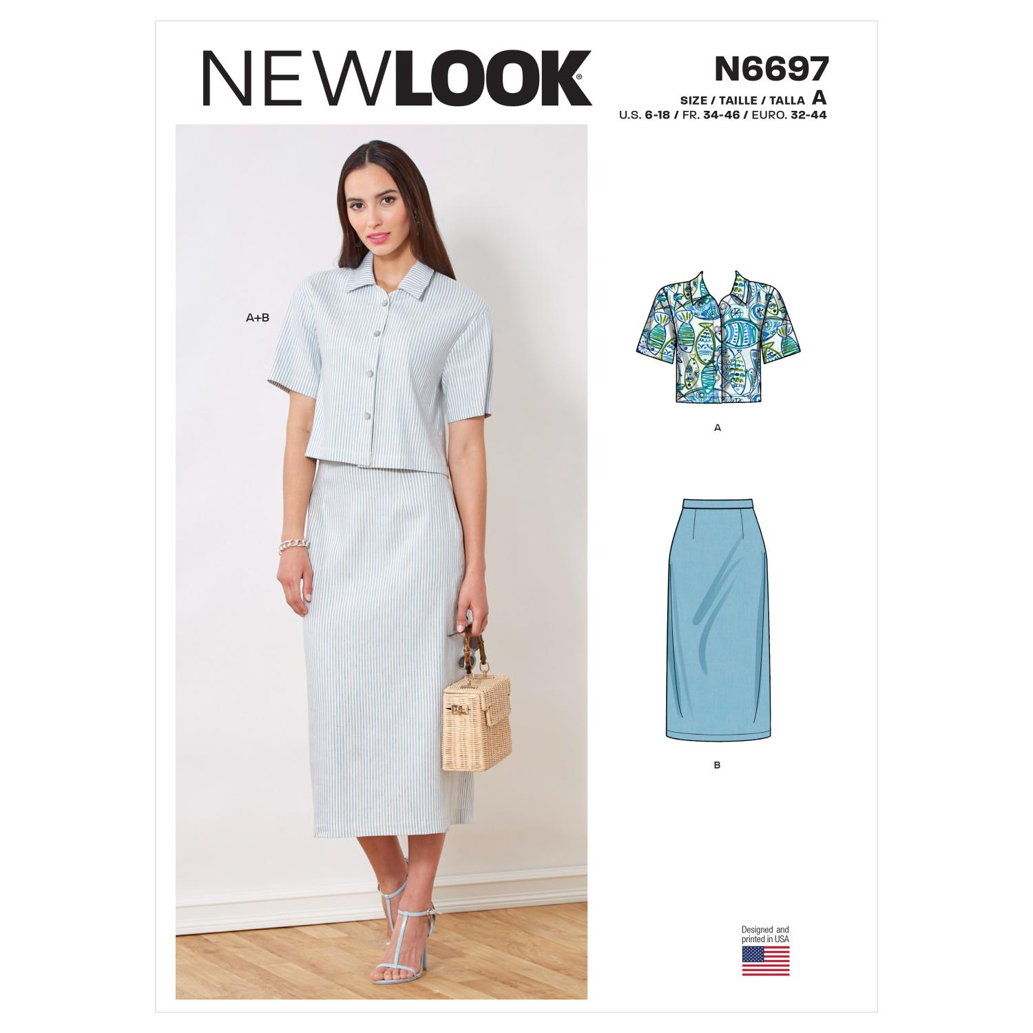 New Look Sewing Pattern N6697 Top and Skirt
