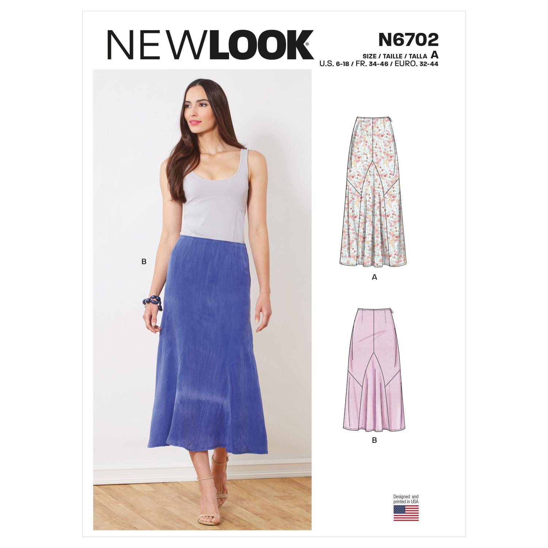 New Look Sewing Pattern N6702 Misses' Skirts