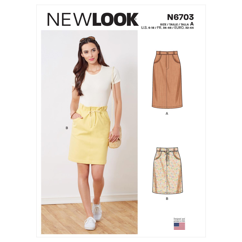 New Look Sewing Pattern N6703 Misses' Skirts