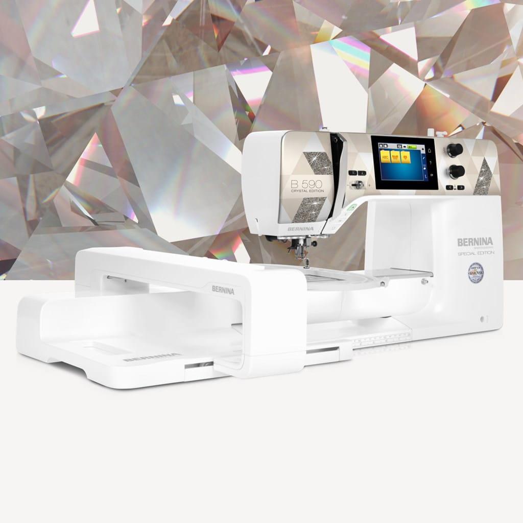 Bernina 590 Crystal Edt.inc modul, trollysett og krystal boks