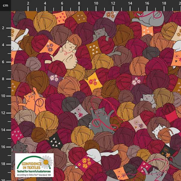 Knitting Nook red pris pr 10 cm
