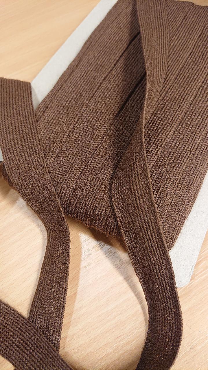 Strikkeband brun 541
