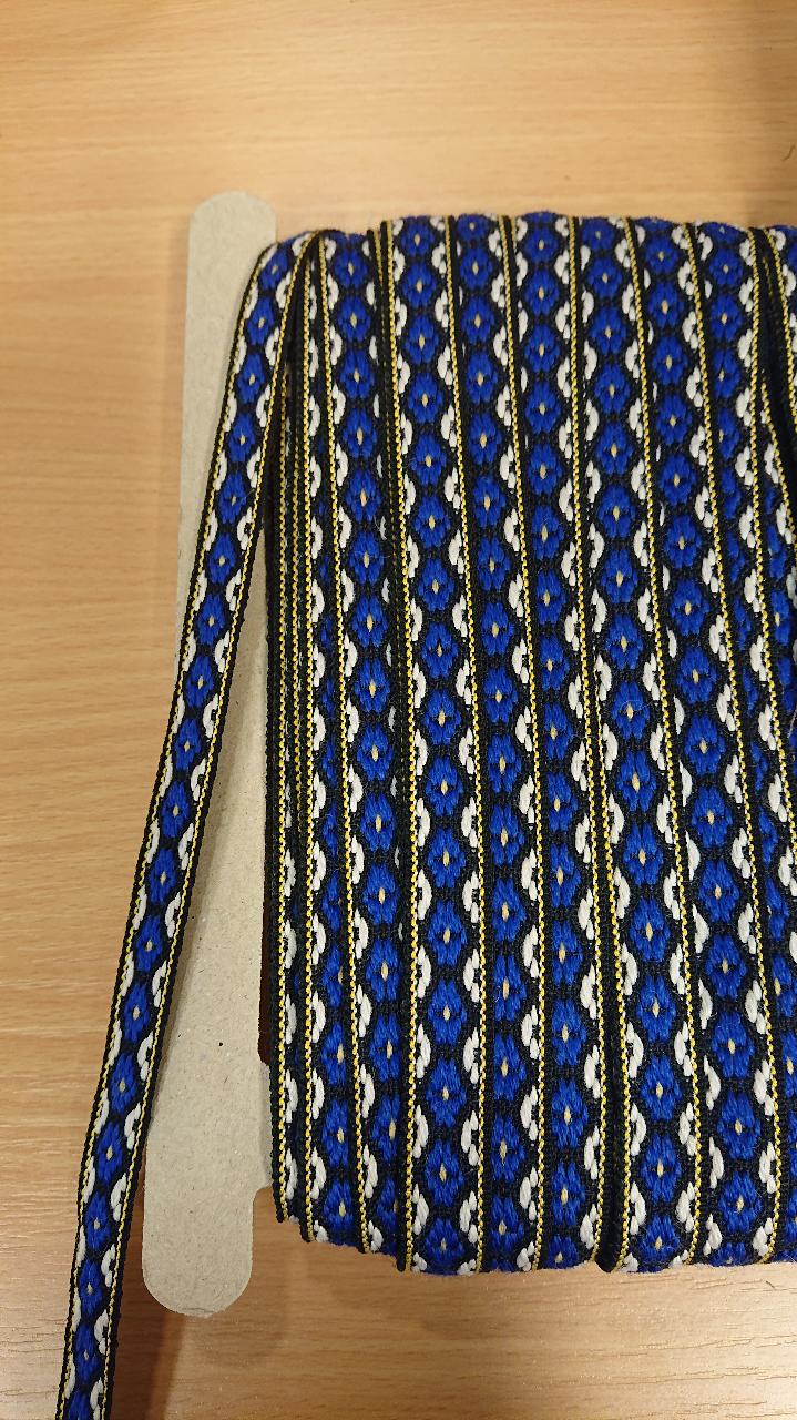 Ullband peco 140 svart/blå/hvit