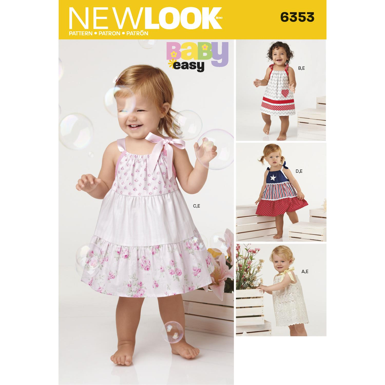 New Look Pattern 6353 Babies' Dresses and Panties