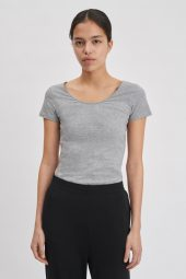 Cotton Stretch Scoop Neck Short Sleeve