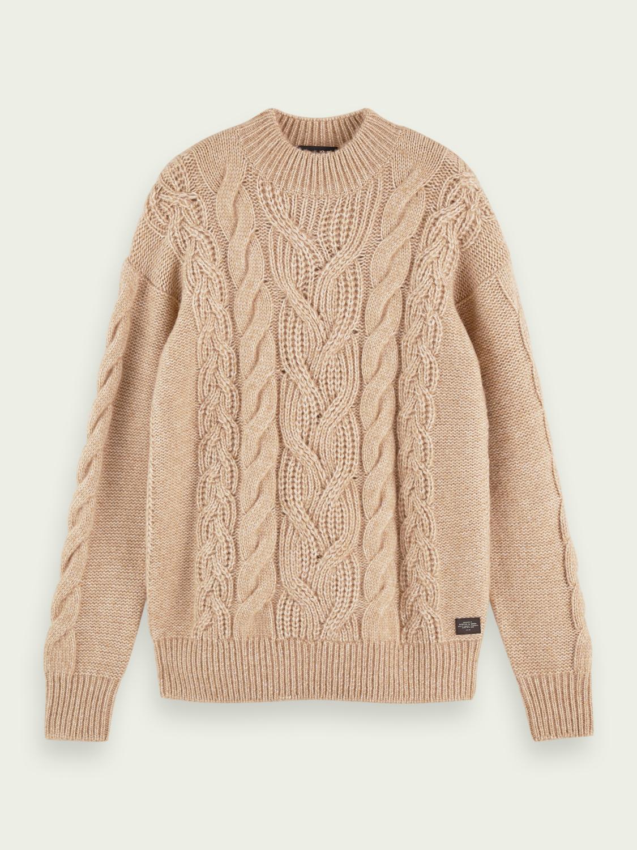 158623 Melange Wool-Blend Pullover