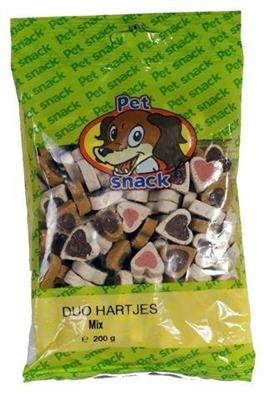 Petsnack Duo Hjerter Mix 200g