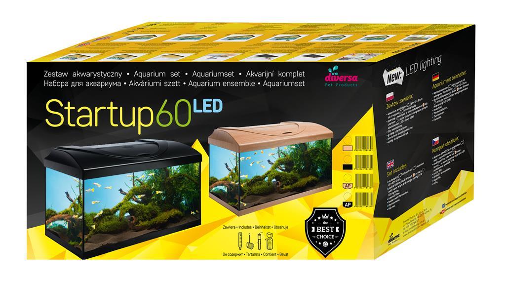 Diversa StartUp60 54L med LED (Svart)