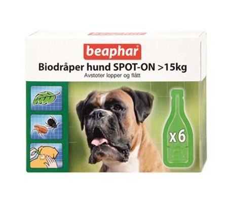 Beaphar Bio Dråper Hund 15kg+