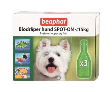 Beaphar Bio Dråper Hund 15kg-