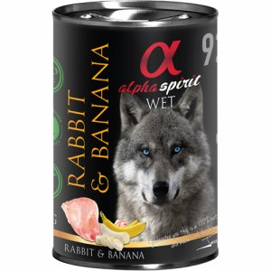 Alpha Spirit Patè Rabbit&Banana 400g
