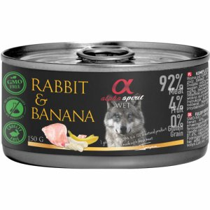 Alpha Spirit Patè Rabbit&Banana 150g