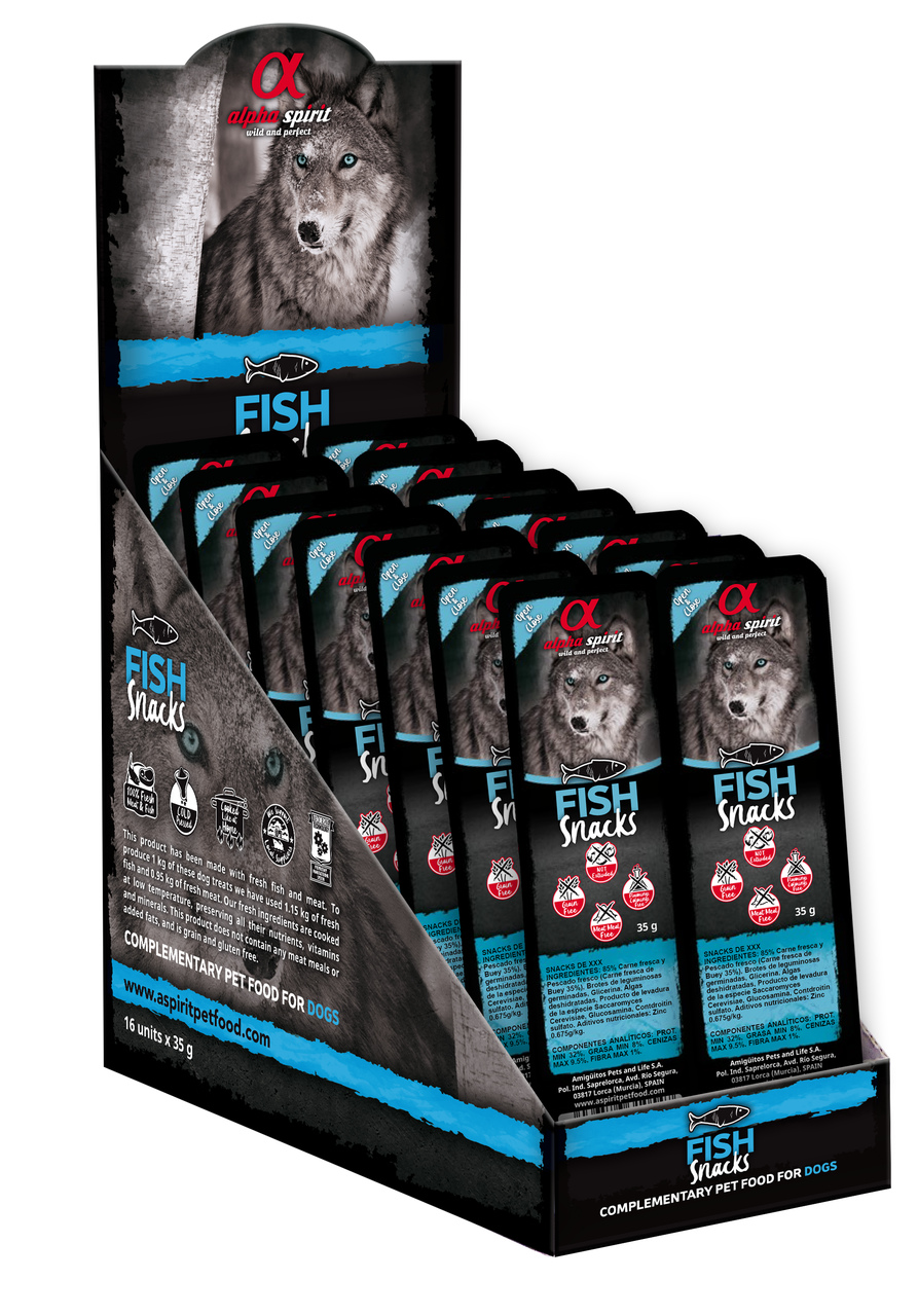 Alpha Spirit Fish Snackpack 35g