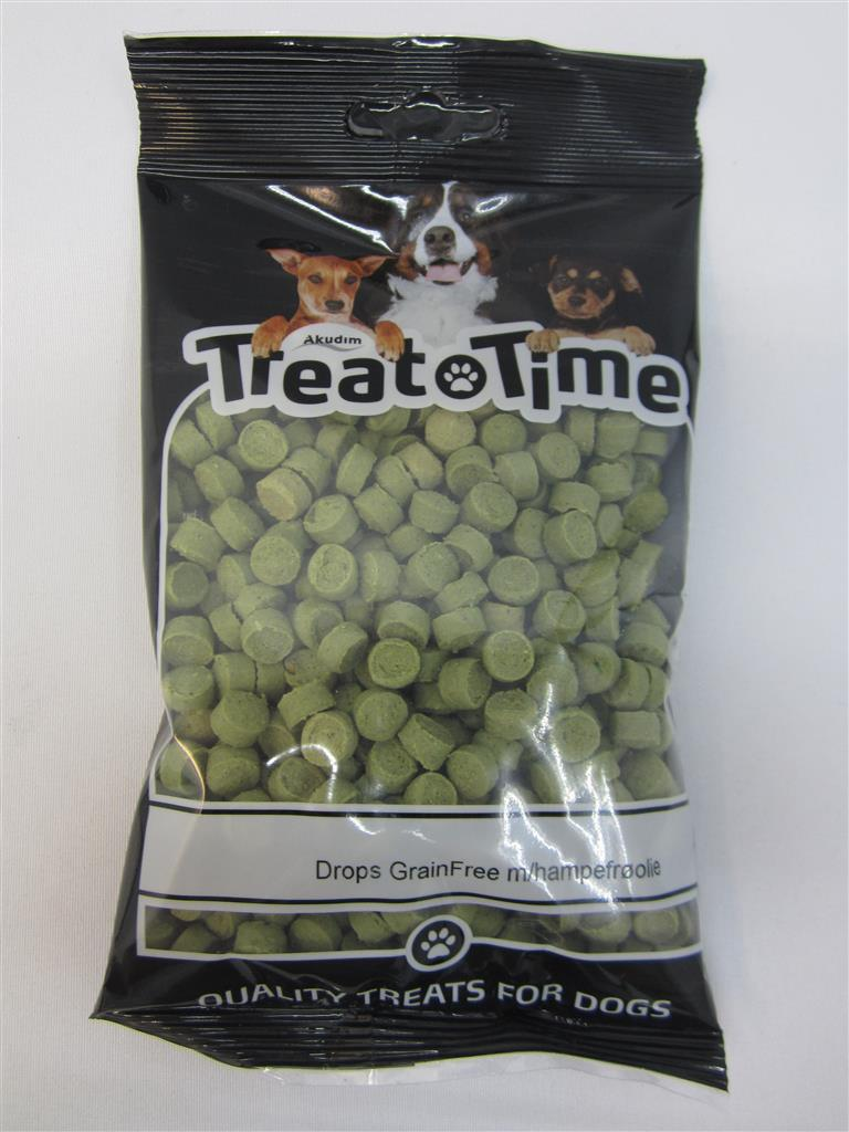Treat time Drops grainfree m/hampefrøolje