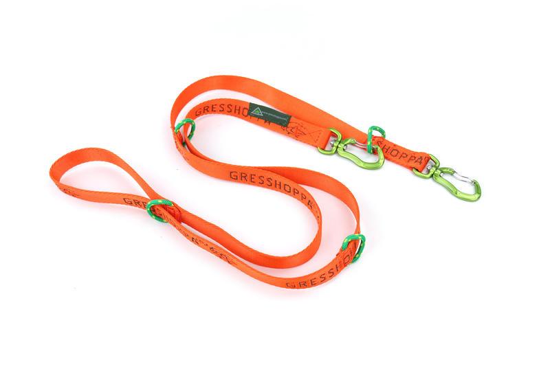 Gresshoppa Vinstra Kobbel Orange 2x170cm