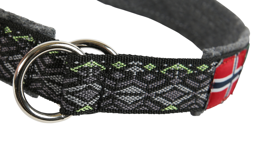 Gresshoppa Røros Black Halsbånd 45cm
