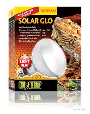 ExoTerra Solar-Glo 125 W. UVA, UVB, Infrarød