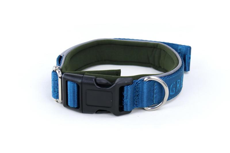 Gresshoppa Begna Halsbånd Aqua Blue 45-55cm