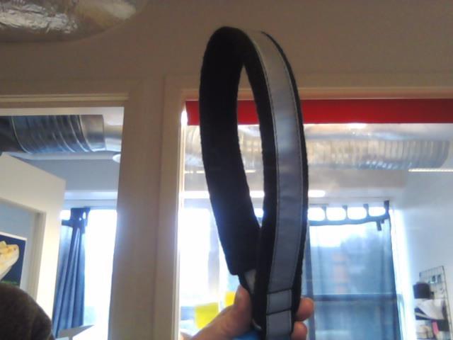 Yukon Halvstrup Fleece/Reflex Sort 45cm