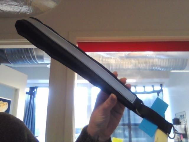Huken Halvstrup m/Reflex Sort 70cm