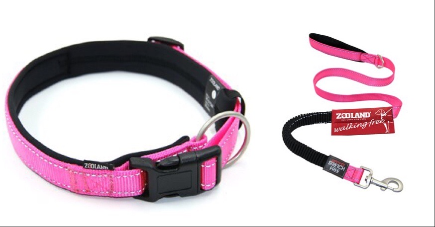 Zooland Halsbånd+Kobbel Pink S