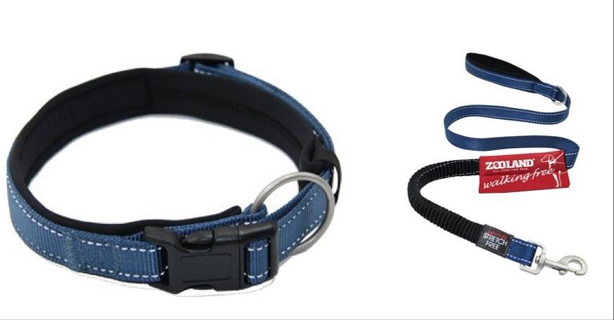 Zooland Halsbånd+Kobbel Blå S