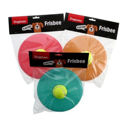 Hundeleke Frisbee m tennisball