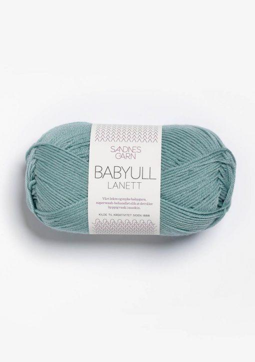 BABYULL LANETT, støvet aqua 6841