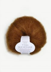 Tynn Silk Mohair, gyllen brun 2755