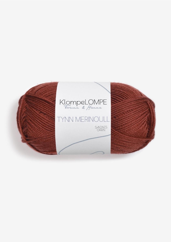 KlompeLompe Tynn merinoull, Rust, 3355
