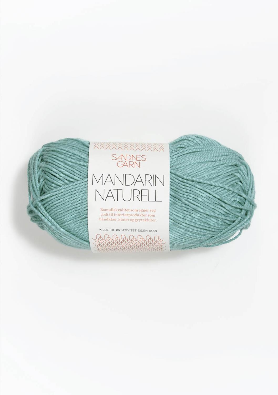Mandarin Naturell, sjøgrønn 6823