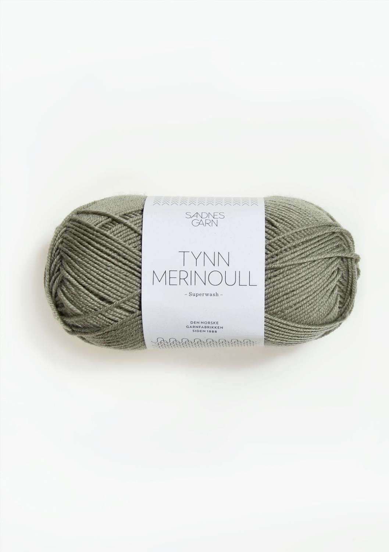TYNN MERINOULL, Støvet lys grønn, 8521