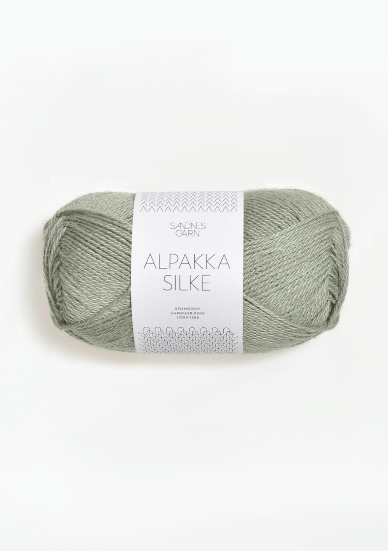 Alpakka Silke, Støvet lys grønn, 8521