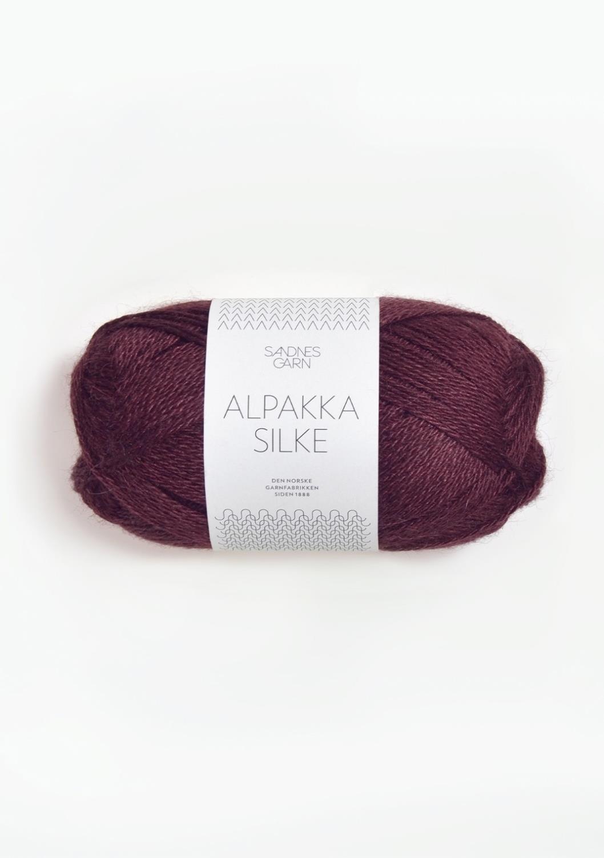 Alpakka Silke, Dyp burgunder, 4372
