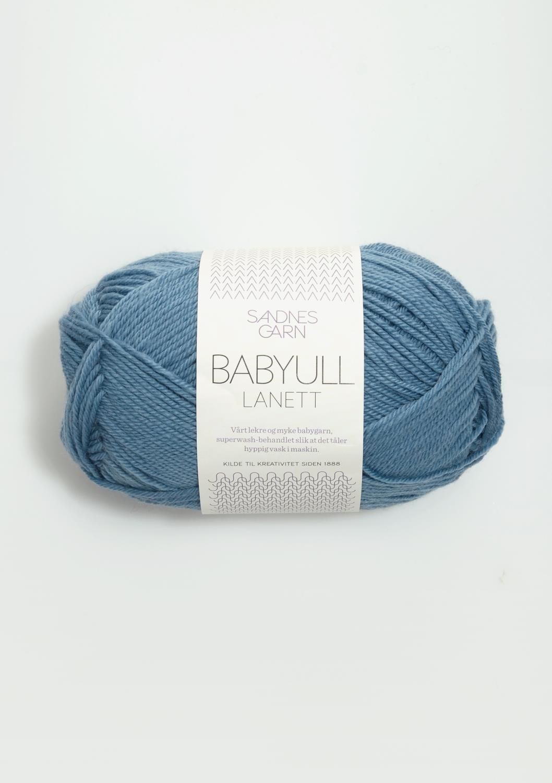 Babyull Lanett Mellomblå 6033