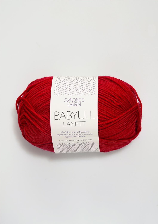 BABYULL LANETT Rød 4128