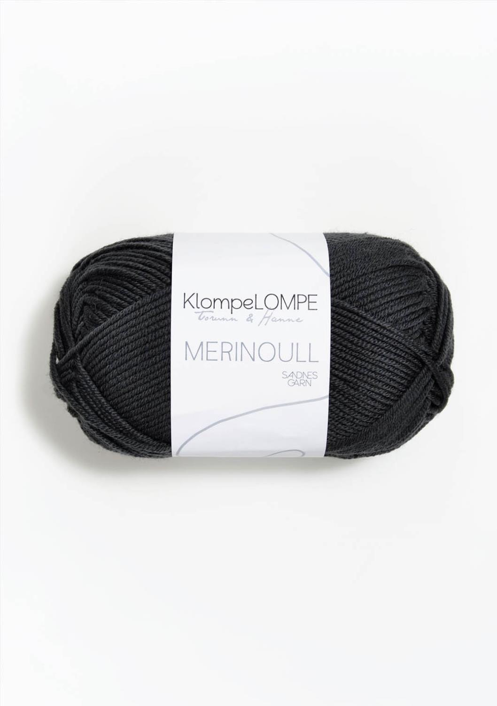 KLOMPELOMPE MERINOULL Dempet Sort 5885
